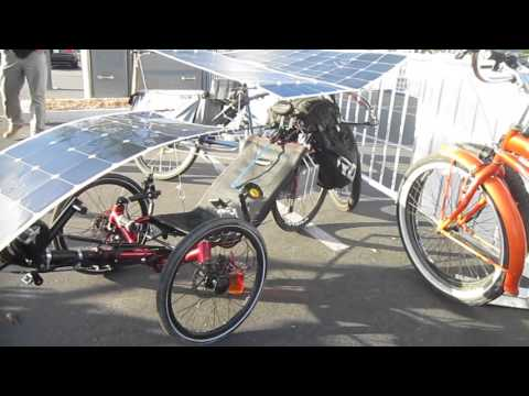 Art's Solar Recumbent Catrike @ SD Electric Bike Expo---Walkaround