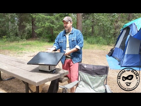 Living in the Woods with Solar Power - Goal Zero Solar Panel Battery Generator Yeti 400 Boulder 30